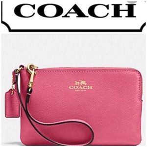 Coach Pink Heart Patent Patent Leather